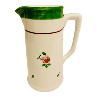 Este Ceramiche for Tiffany & Co. Floral Ceramic Pitcher For Sale