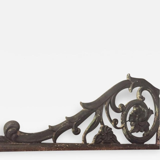19th Century Empire Cast Iron Bracket For Sale - Image 6 of 6