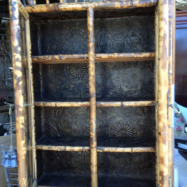 Antique Bamboo Cabinet For Sale In San Antonio - Image 6 of 11