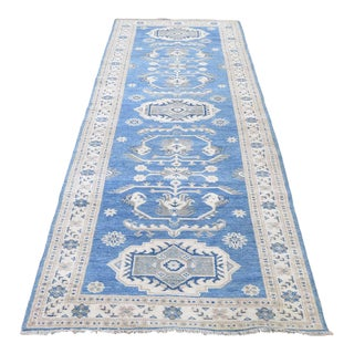 Kazak Wool Hand-Knotted Runner For Sale