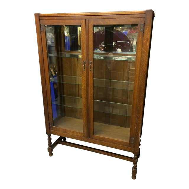 Antique Mission Oak China Cabinet - Antique Mission Oak China Cabinet Chairish