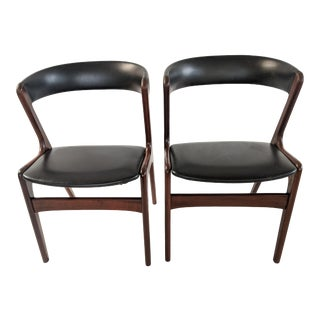 1950s Kai Kristiansen Rosewood Fire Chairs - a Pair For Sale