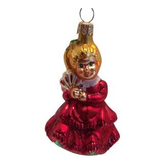 """Christopher Radko Ornament """"Little Girl in Red Christmas Dress"""""""