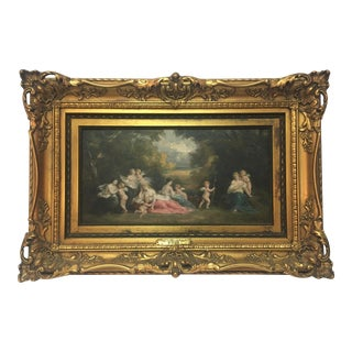 Narcisse Virgilio Díaz French Barbizon Painting For Sale