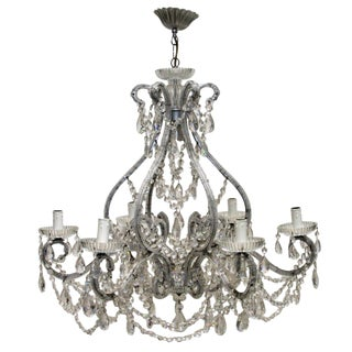 Florentine Swarovski Chandeliers (2 Available) For Sale