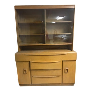 Mid-Century Modern Heywood Wakefield Cabinet Hutch For Sale