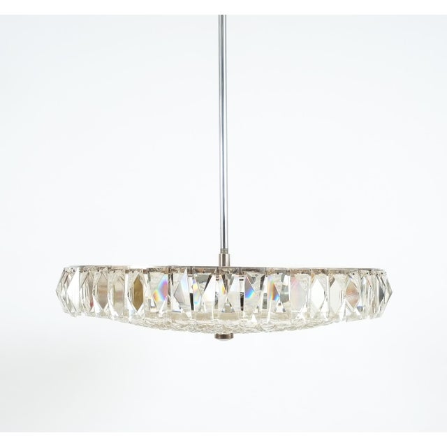 Crystal Beautiful Bakalowits Dome Crystal Glass Chandelier For Sale - Image 7 of 8
