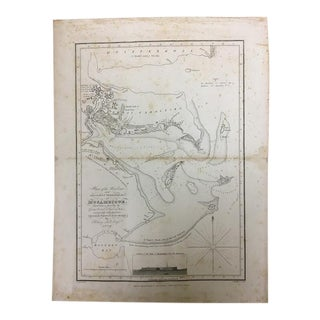 1809 Antique Nautical Mozambique Map For Sale