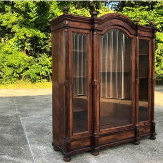 19th Century French Louis XVI Rosewood Triple Display Armoire ~ Bookcase Preview