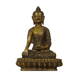 1920s Antique Tibetan Carved Bronze Buddha Statuary For Sale