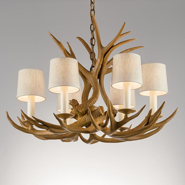 American Natural antler light For Sale - Image 3 of 3