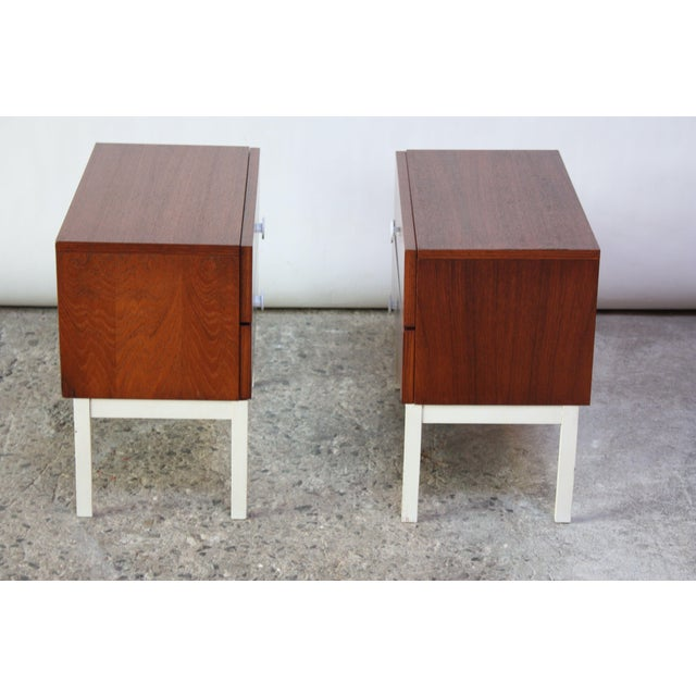 Pair of Danish Modern Teak 2-Drawer Nightstands - Image 5 of 9