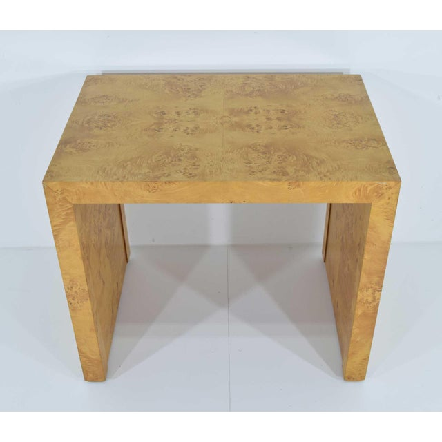 1970s Milo Baughman Burl Wood Side Table For Sale - Image 11 of 12