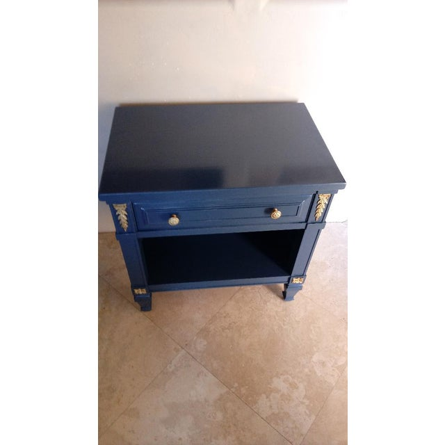 Drexel San Remo High Gloss Blue Nightstand - Image 4 of 6