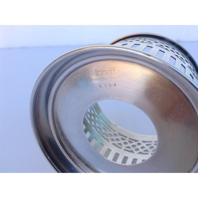 Vintage Silver Plate Celtic Pierced Syphons - Set of 4 For Sale - Image 9 of 11