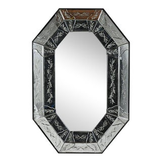 Vintage Octagonal Venetian-style Mirror For Sale