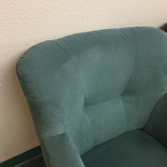 Soderberg Green Micro Fiber Side Chairs - a Pair For Sale - Image 4 of 8