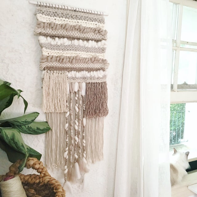 Willow Brooke Neutral Woven Wall Hanging - Image 2 of 4