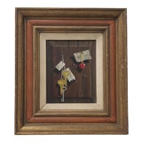 Image of Vintage Still Life Oil Painting by Fischer C.1967 For Sale