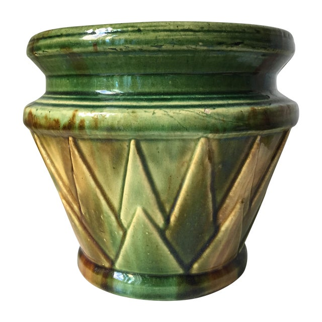 Antique Starburst Art Pottery Planter - Image 1 of 6