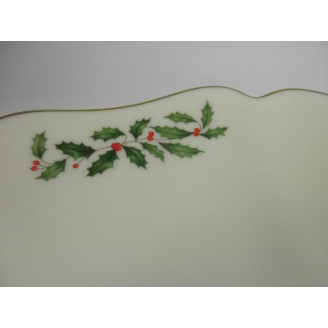 Vintage Holly Print Platter - Image 4 of 5