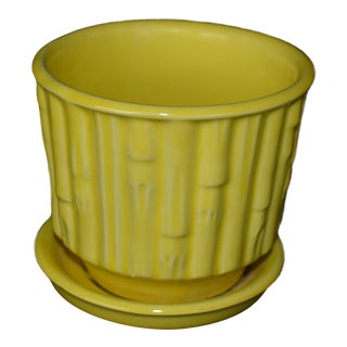 McCoy Yellow Faux Bamboo Planter