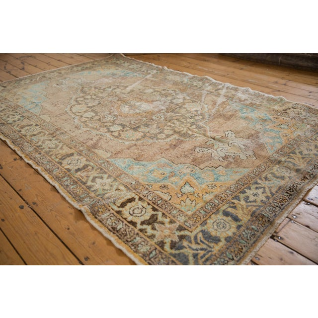 """Old New House Vintage Distressed Oushak Carpet - 5'6"""" X 8'6"""" For Sale - Image 4 of 13"""