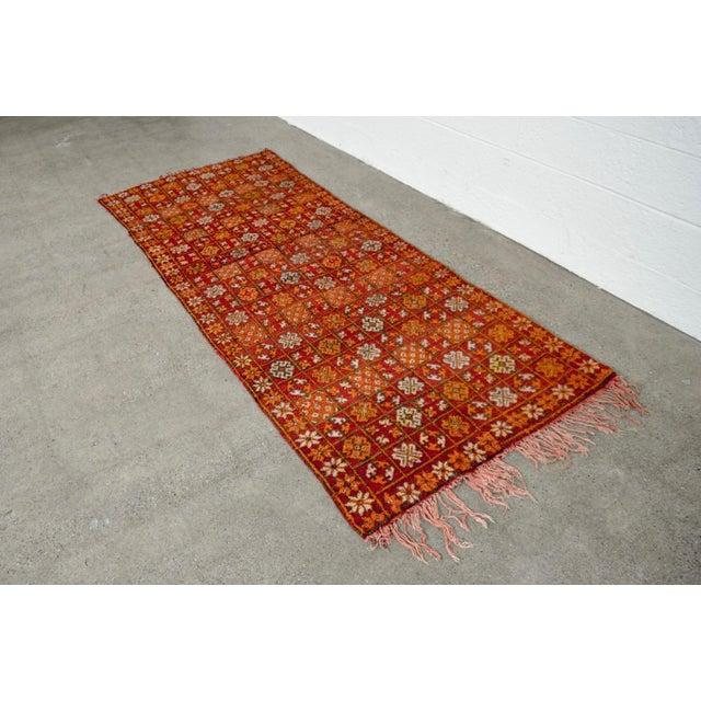"Yellow Vintage Moroccan Boujad Floor Rug Runner - 3'3"" x 8'5"" For Sale - Image 8 of 10"
