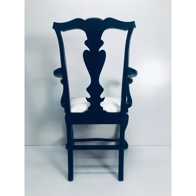 1960s Vintage Traditional Oak Chippendale Chairs - Set of 4 For Sale - Image 4 of 9