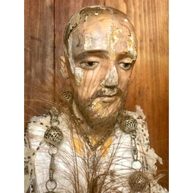 Italian Santos Carved Wood Figure For Sale - Image 4 of 12