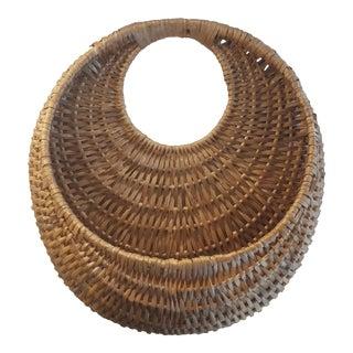 Vintage Wicker Wall Hanging Basket