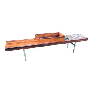 Mid Century Modern Rosewood Krobo Table/Bench For Sale