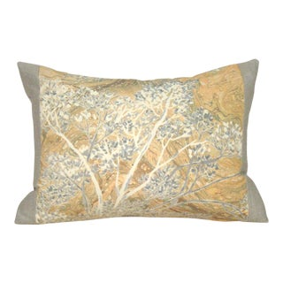 Marbled Treescape Japanese Kimono Pillow Cover