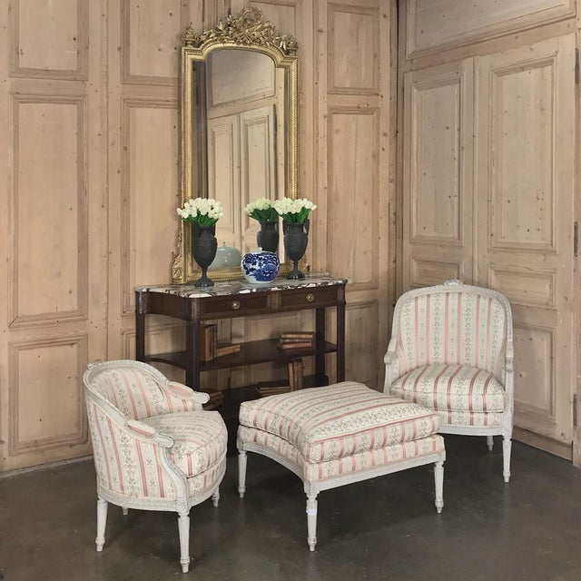 French 19th Century French Louis XV Chaise Duchesse Brisee (Chaise Lounge) For Sale - Image 3 of 13