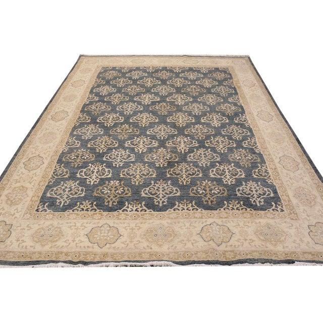 Kafkaz Peshawar Dante Gray & Ivory Wool Rug - 9'0 X 11'8 For Sale - Image 4 of 7