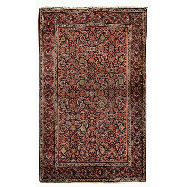 Vintage Persian Wool Rug 3'10'' X 6'4'' For Sale - Image 11 of 11