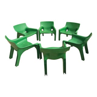 Vico Magistrati for Artemide Vicario Armchairs - Set of 6 For Sale