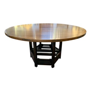 Stickley Antiquities Thorsen Cherry Split Pedestal Dining Table For Sale