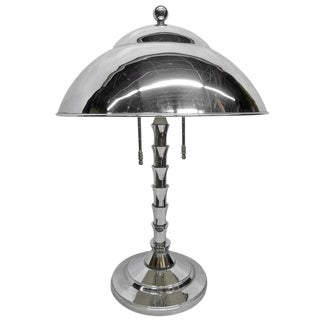 Jay Spectre Chrome Table Lamp For Paul Hanson For Sale