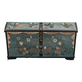 Swedish Wedding Chest 19th Century Hand Painted