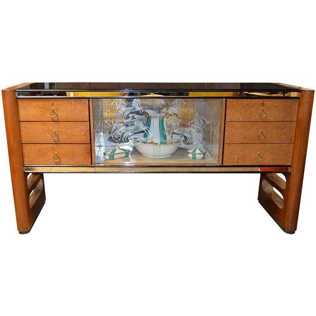 1940s Art Deco Italian Wood Sidebaord For Sale - Image 10 of 10