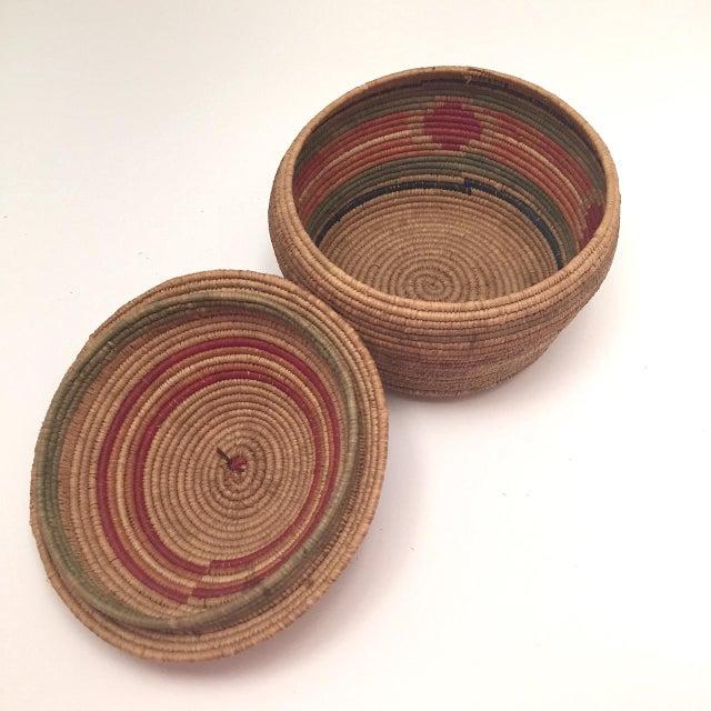 Northwest Coast Salish Lidded Coiled Basket For Sale - Image 13 of 13