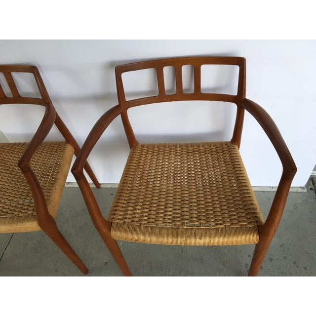 Rope Niels Moller Model 64 Danish Modern Chairs - A Pair For Sale - Image 7 of 10
