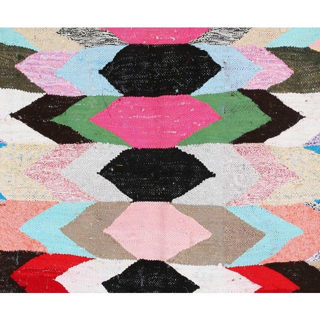 "Moroccan Kilim Boucherouite Rug - 3'7"" x 6'5"" - Image 2 of 2"
