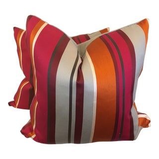 """Bright Stripe 22"""" Pillow-A Pair For Sale"""