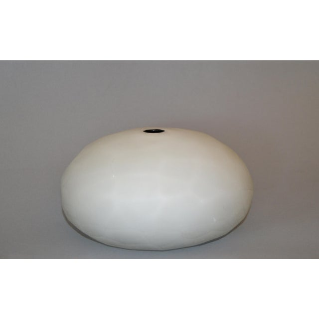 Paolo Venini Frosted Murano Art Glass Vase Manufactured by Venini, 1997 For Sale - Image 10 of 11