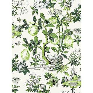Sample, Scalamandre Shantung Garden, Verdance Wallpaper For Sale