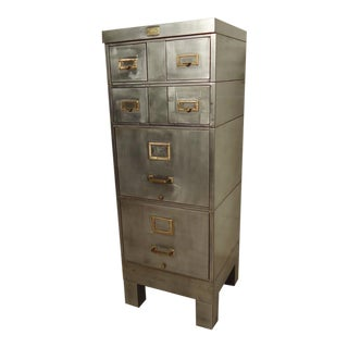 Restored Stacking File Cabinet For Sale