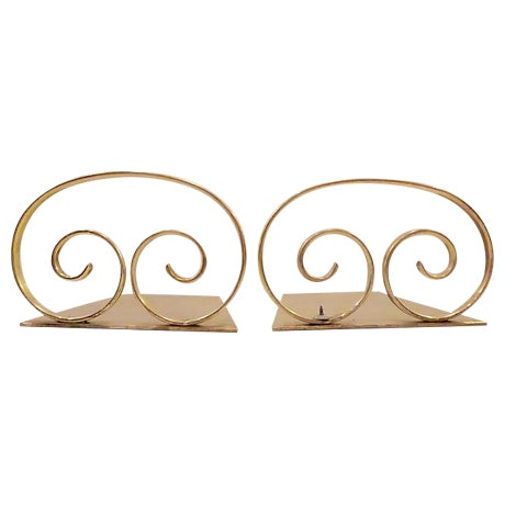 Solid Brass Bookends - A Pair - Image 1 of 6