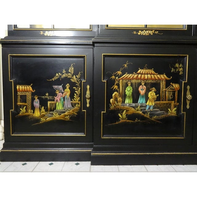 Vintage Gold Leaf Hand-Painted China Cabinet - Image 5 of 6